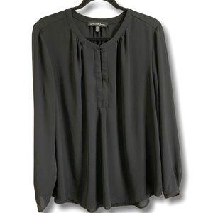JASMINE & JULIANA Semi Sheer Long Sleeve Blouse XL